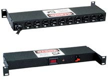 "19"" Horizontal Power Strips with Amp Metering"